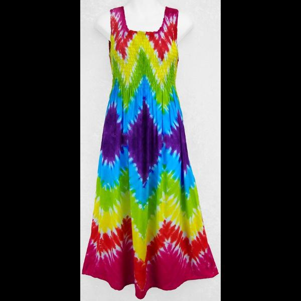 Diamond Rainbow Tank Dress-Dresses-Peaceful People