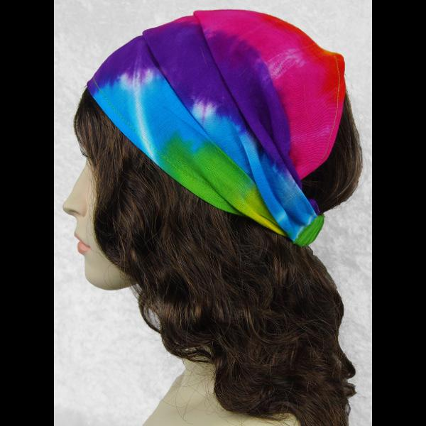 12 Rainbow Spiral Tie-Dye Elastic Bandana-Headbands ($1.60 each)-Bags & Accessories-Peaceful People