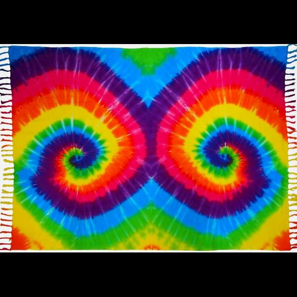 Rainbow Spiral Tie-Dye Sarongs-Sarongs-Peaceful People