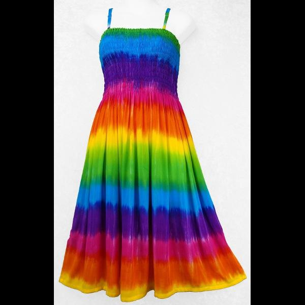 Prism Rainbow Sun Dress-Dresses-Peaceful People