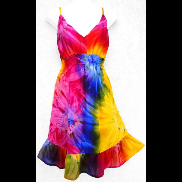 Tie-Dye Star Dress-Dresses-Peaceful People
