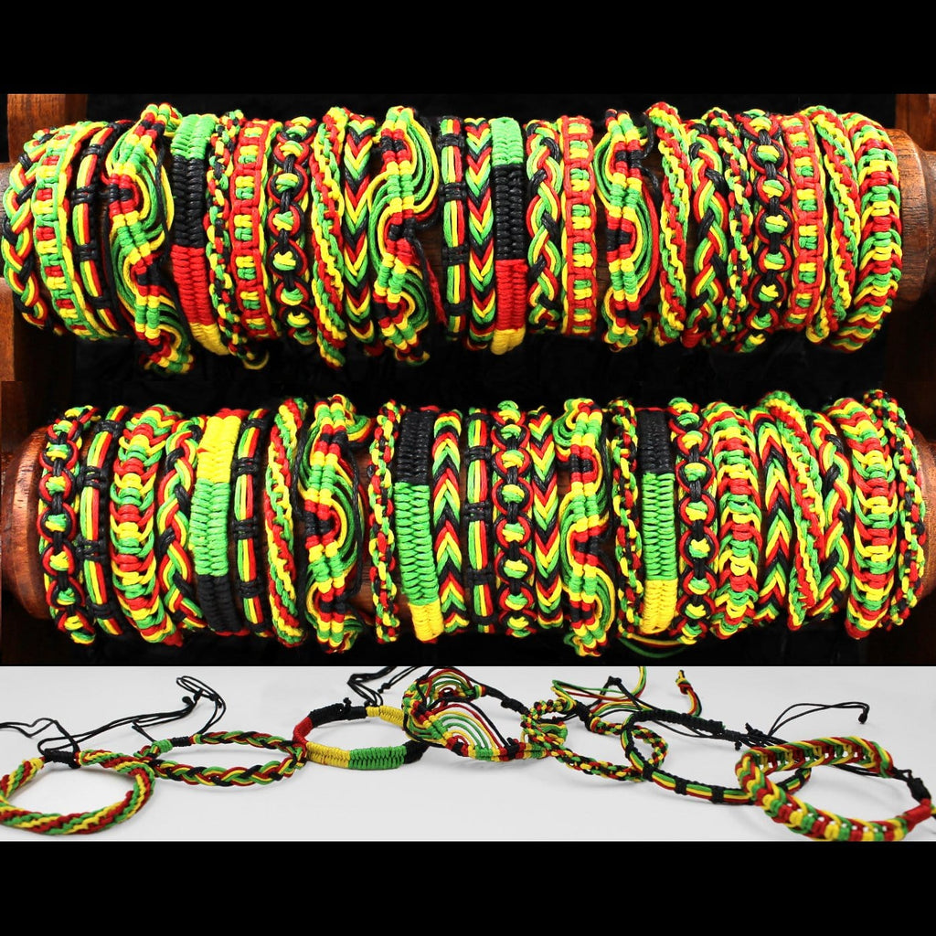 50 Rasta Bracelets ($0.44 each)-Bracelets & Jewelry-Peaceful People