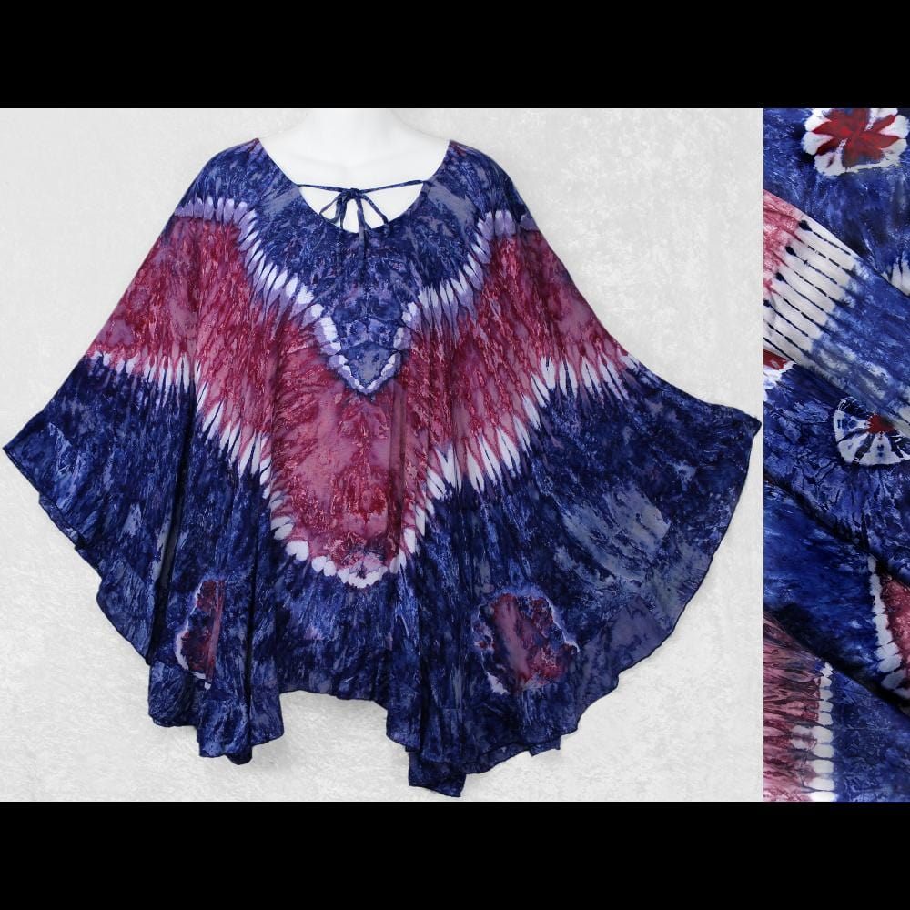 Red, White and Blue Cloak Top-Tops-Peaceful People