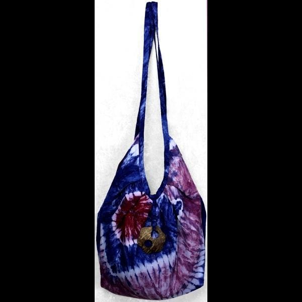 Red, White and Blue Tie-Dye Expandable Beach Bag-Bags & Accessories-Peaceful People