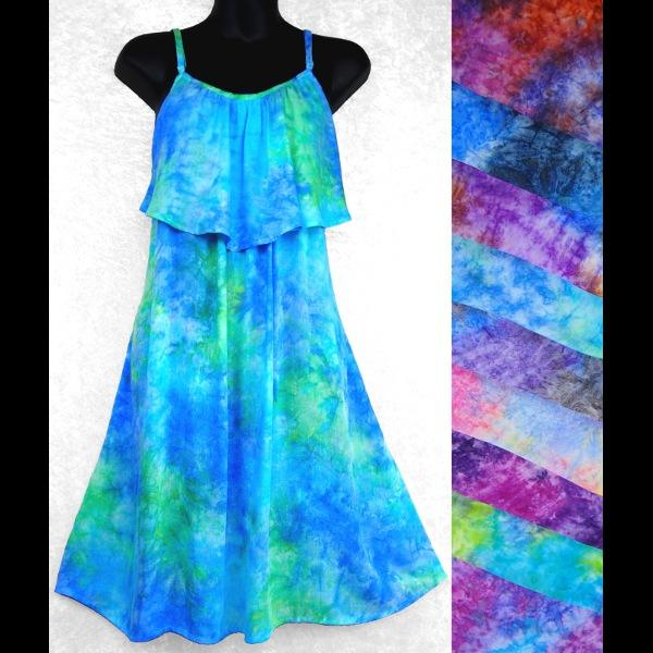 Splash Moon Tie-Dye Dress-Dresses-Peaceful People
