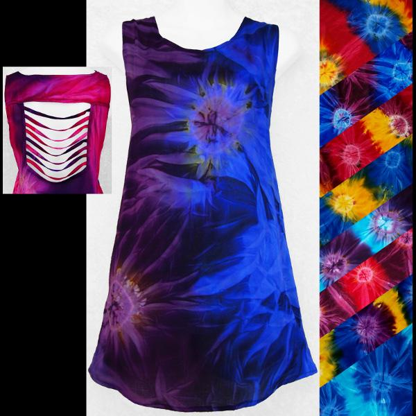 Tie-Dye Shred Long Top-Sun Dresses-Peaceful People