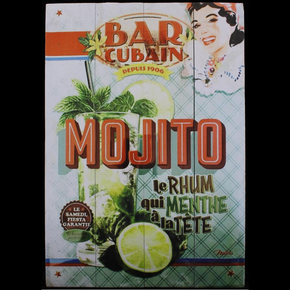 Mojito Red Wood Sign-Handicrafts-Peaceful People