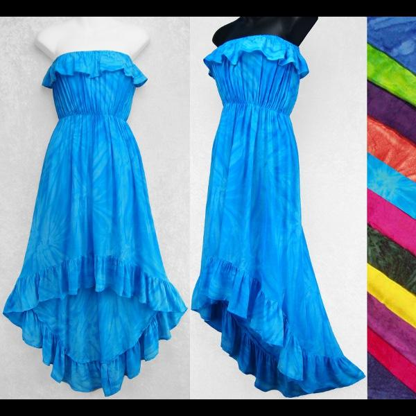 Fizzy Tie-Dye Flamenco Dress-Dresses-Peaceful People