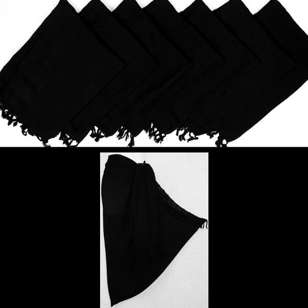 Solid Black Sarongs-Sarongs-Peaceful People