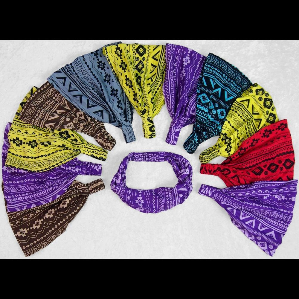 Southwest Stripe Elastic Bandana-Headbands ($1.60 each)-Bags & Accessories-Peaceful People