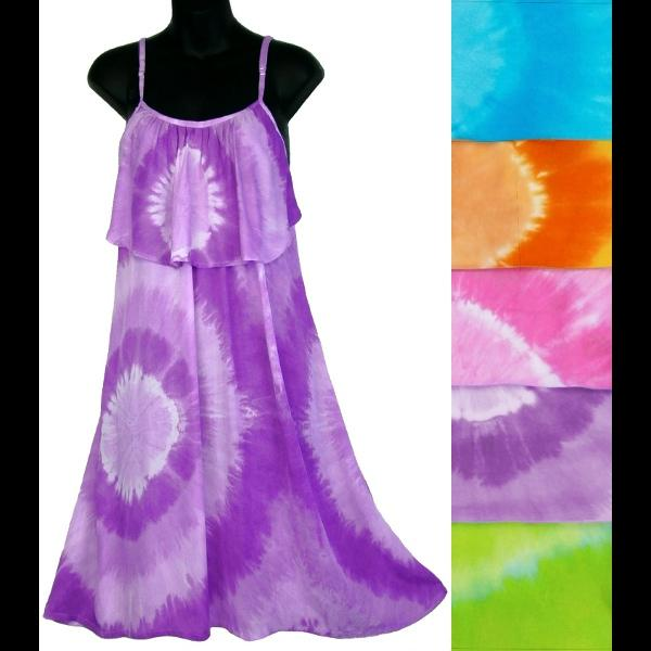 Tie-Dye Circle Moon Dress-Dresses-Peaceful People