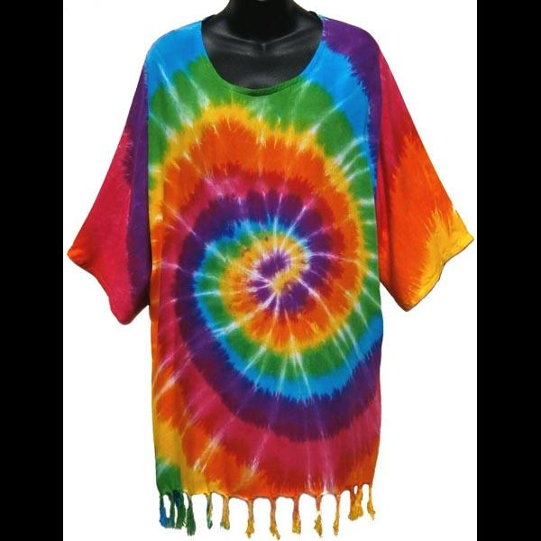 Rainbow Tie-Dye Spiral Pullover Shirt-Tops-Peaceful People