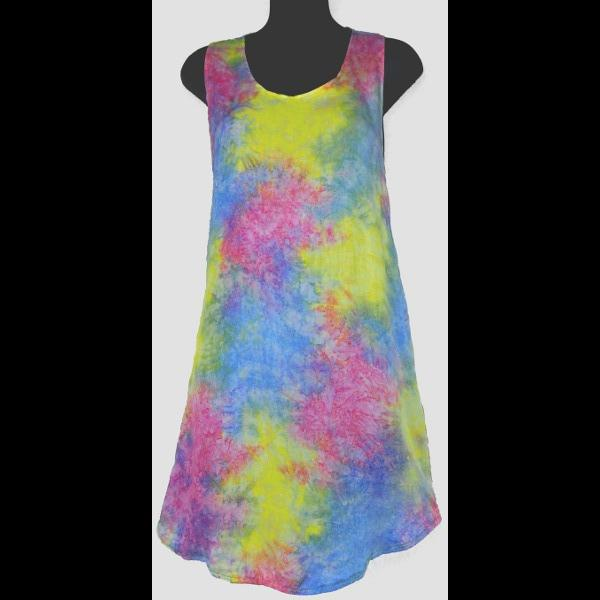 Splash Tie-Dye Shred Long Top-Tops-Peaceful People