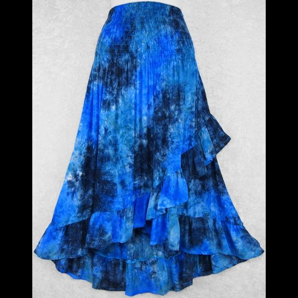 Splash Tie-Dye Ruffled Convertible Top/Skirt-Tops-Peaceful People