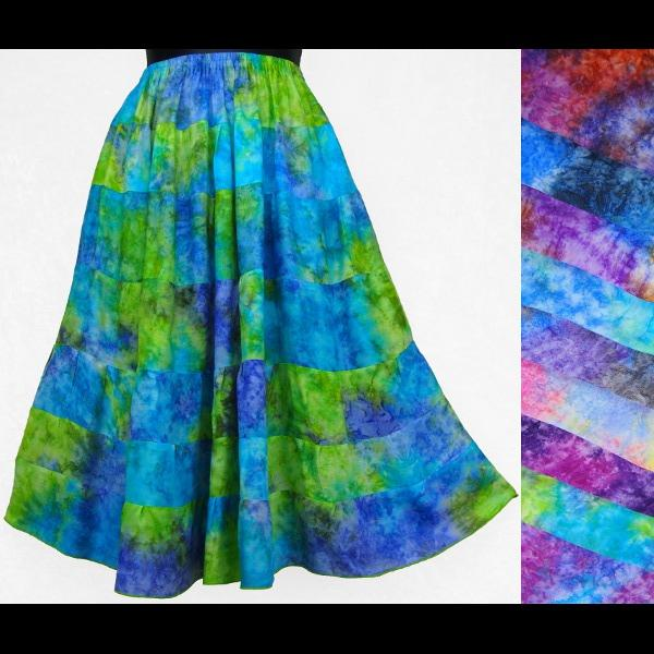 Splash Tiered Skirt-Skirts-Peaceful People