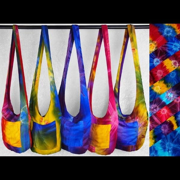 Tie-Dye Boho Shoulder Bag-Bags & Accessories-Peaceful People