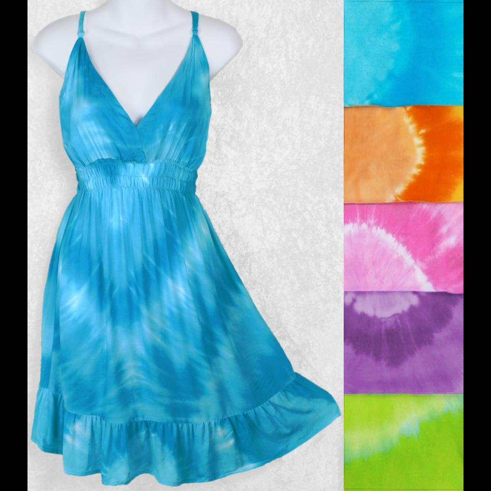 Tie-Dye Circle Star Dress-Dresses-Peaceful People