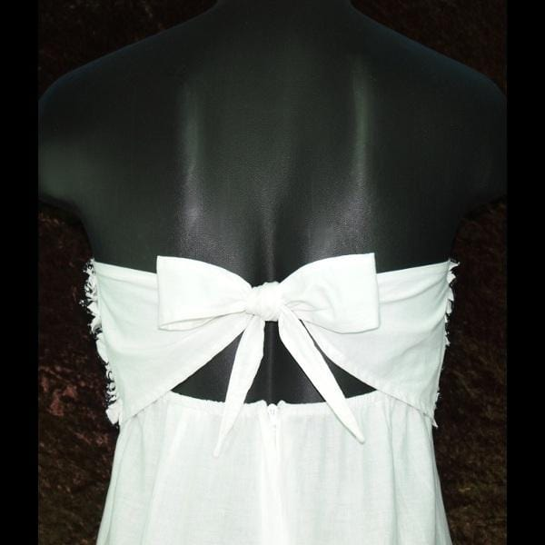 Brianna's Black and White Cotton Dress-Sun Dresses-Peaceful People