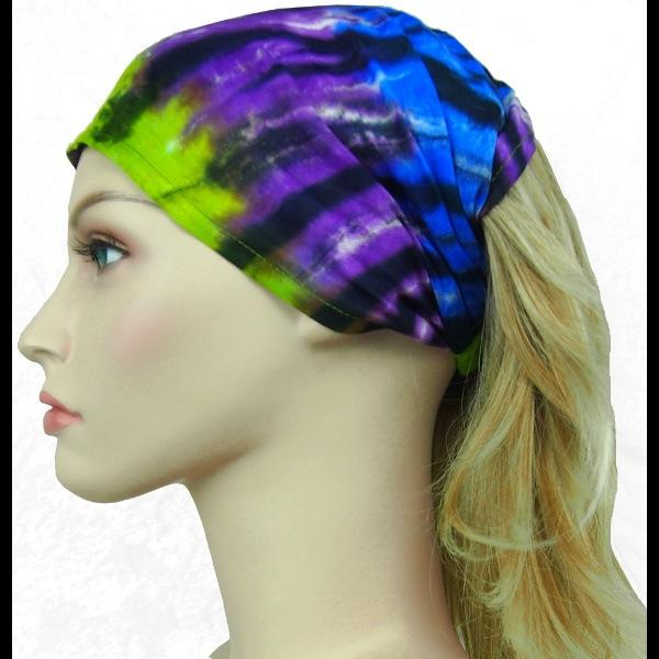 12 Karma Tie-Dye Elastic Bandana-Headbands ($1.60 each)-Bags & Accessories-Peaceful People