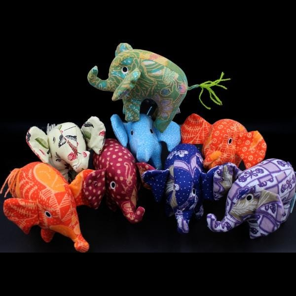 Antique Batik Elephant-Handicrafts-Peaceful People