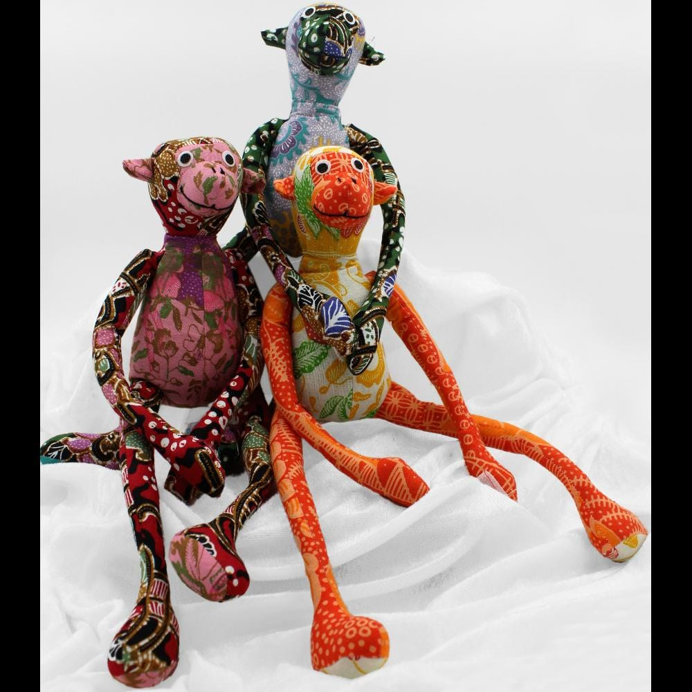 Antique Batik Monkey-Handicrafts-Peaceful People