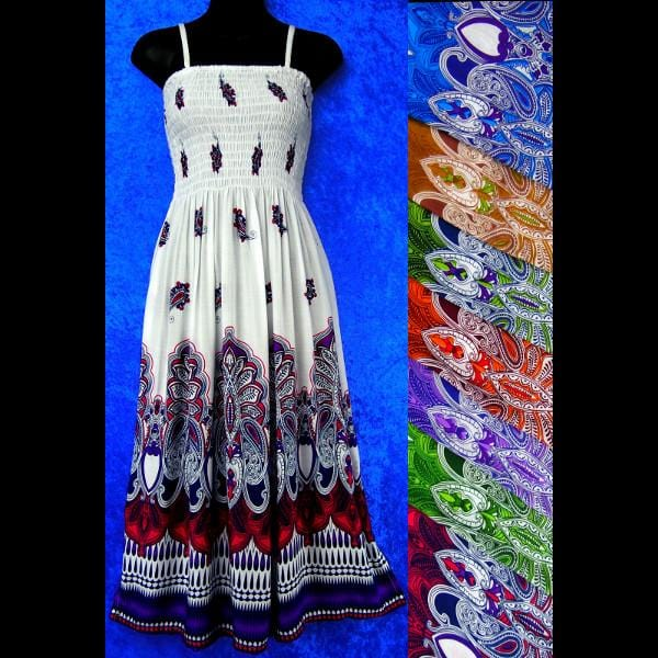 Taj Sarong Dress-Dresses-Peaceful People