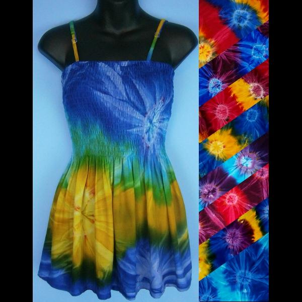 Tie-Dye Baby Doll Convertible Top/Skirt-Tops-Peaceful People