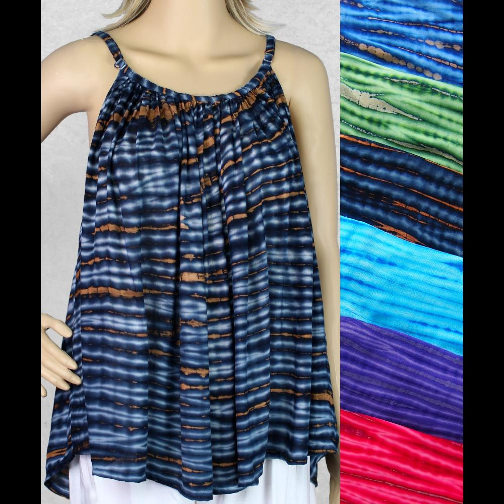 Coffee Tie-Dye Cami Top-Sarongs-Peaceful People