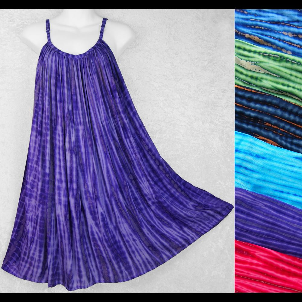 Coffee Tie-Dye Parachute Dress-Dresses-Peaceful People