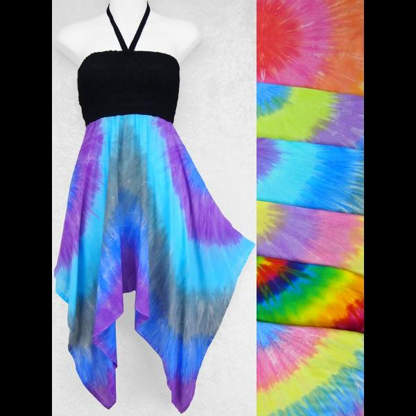Eva's Soft Tie-Dye Convertible Top/Skirt-Tops-Peaceful People