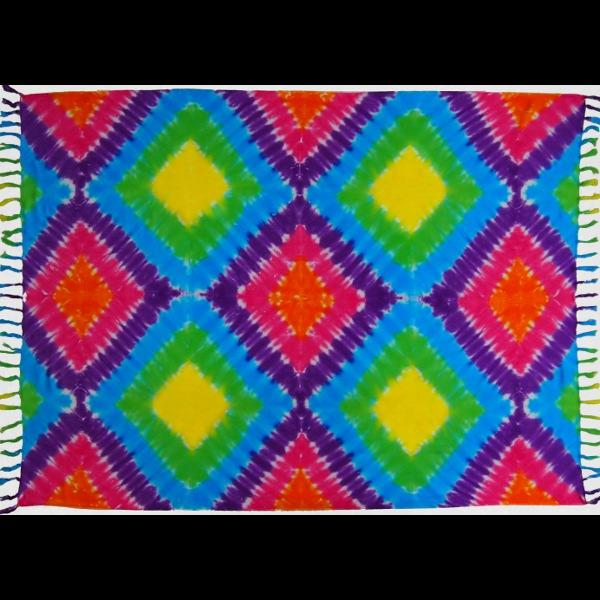 Rainbow Diamond Tie-Dye Sarongs-Sarongs-Peaceful People