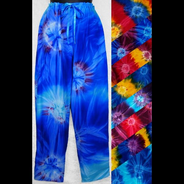 Tie-Dye Drawstring Pants-Pants-Peaceful People