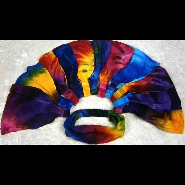 12 Tie-Dye Elastic Bandana-Headbands ($1.60 each)-Bags & Accessories-Peaceful People