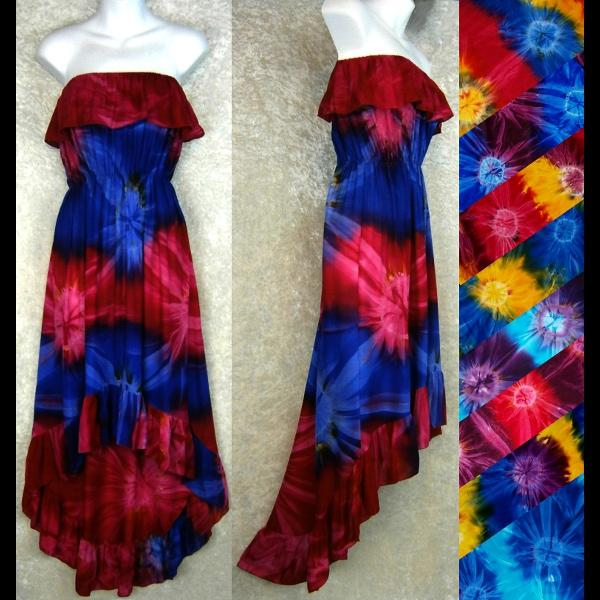 Tie-Dye Flamenco Dress-Dresses-Peaceful People