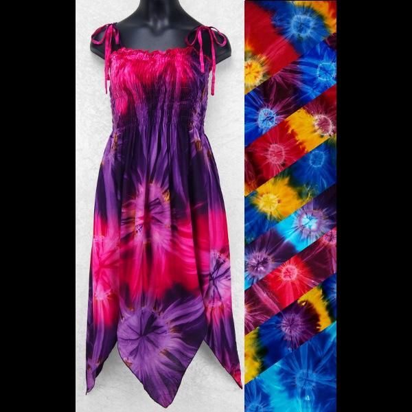Girl's Tie-Dye Fairy Dress (Ages: 4, 6, 8, 10, 12)-Children's Clothes-Peaceful People