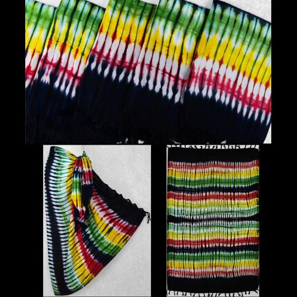 Rasta Tie-Dye Sarongs-Sarongs-Peaceful People