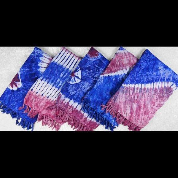 Red, White & Blue Tie-Dye Sarongs-Sarongs-Peaceful People