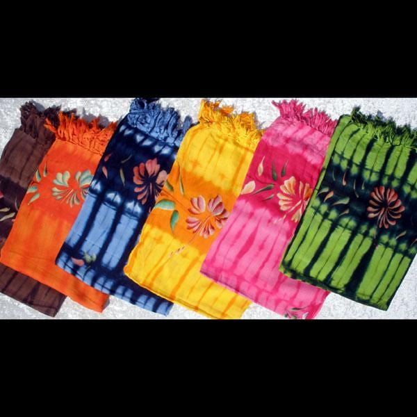 Flower Tie-Dye Sarongs-Sarongs-Peaceful People