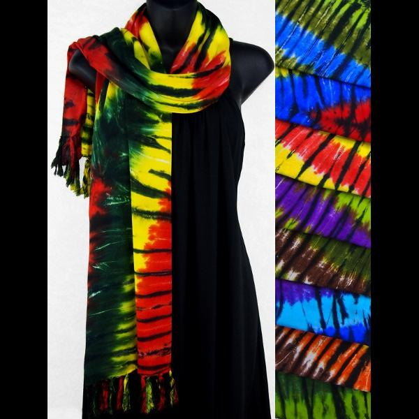 Karma Tie-Dye Scarf/Shawl-Sarongs-Peaceful People