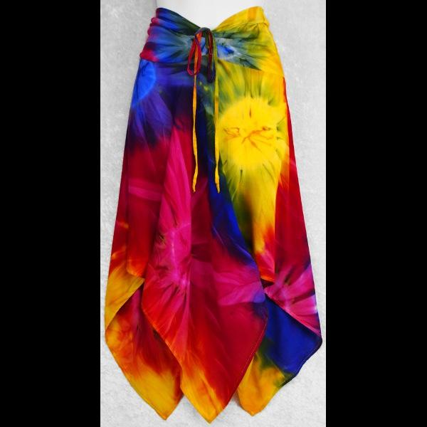 Tie-Dye Convertible Top/Skirt-Tops-Peaceful People