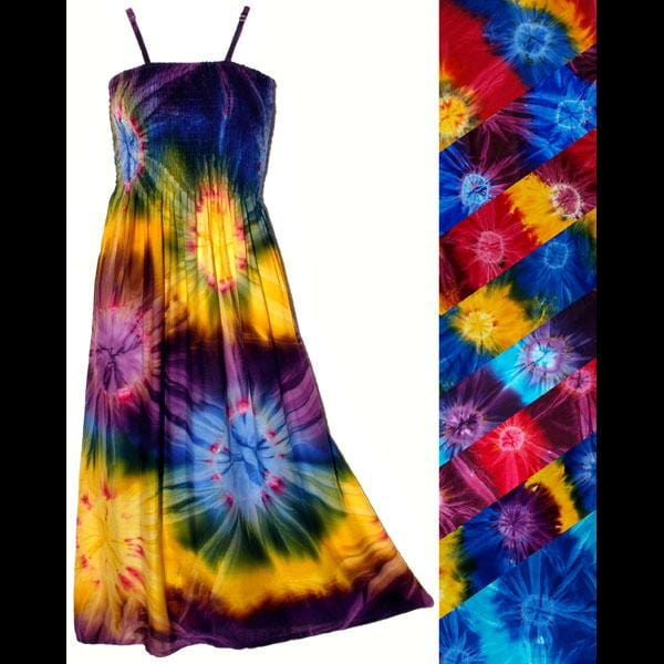 Tie-Dye Sarong Dress-Dresses-Peaceful People