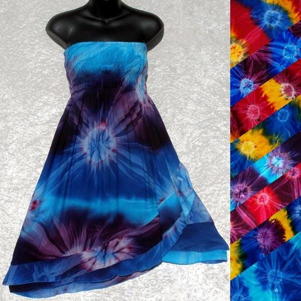 Tie-Dye Convertible Dress/Skirt-Dresses-Peaceful People