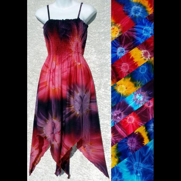 Tie-Dye Fairy Sarong Dress-Dresses-Peaceful People