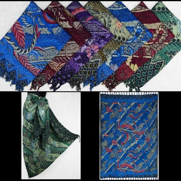 Antique Traditional Batik Print Sarongs-Sarongs-Peaceful People