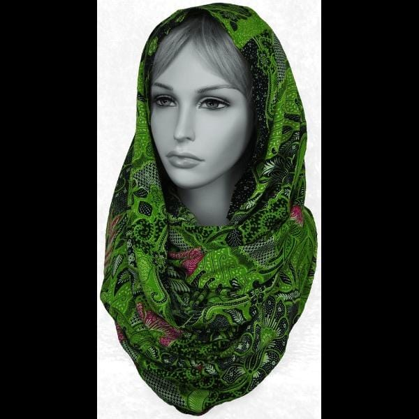 Traditional Batik Print Infinity Scarf-Bags & Accessories-Peaceful People