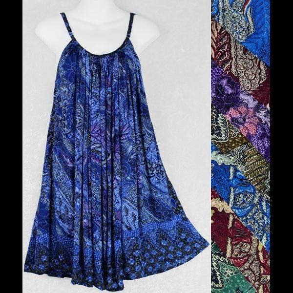 Traditional Batik Print Antique Parachute Dress-Dresses-Peaceful People