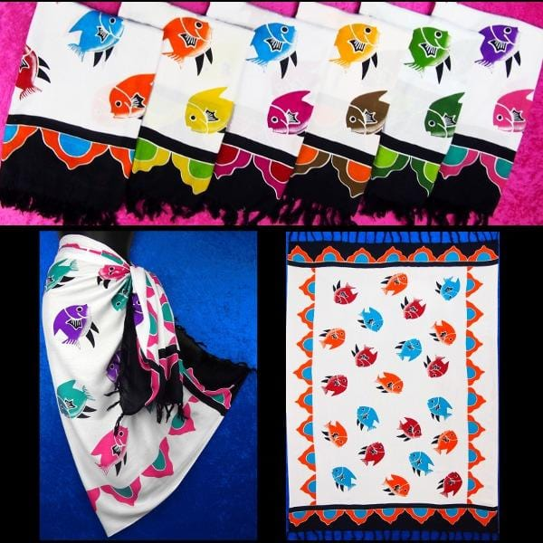 Fish Multi-Color Sarongs-Sarongs-Peaceful People