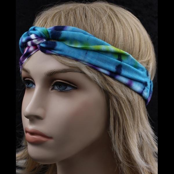 12 Tie-Dye Twisted Turban Elastic Headbands ($1.60 each)-Bags & Accessories-Peaceful People