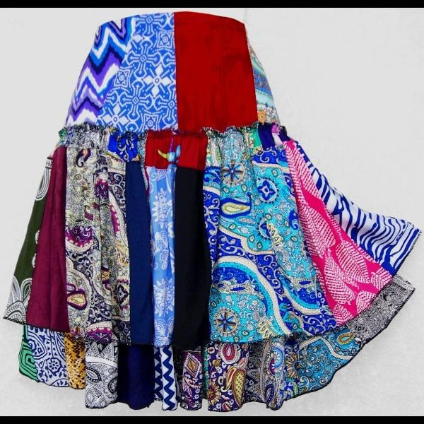 Lucy's Patchwork Flirty Skirt-Skirts-Peaceful People