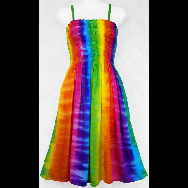 Melody Vertical Stripe Rainbow Dress-Dresses-Peaceful People